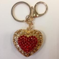 Pakabukas raktams Širdis Raudona