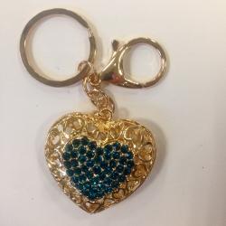 Pakabukas raktams Širdis Mėlyna