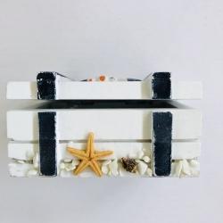 Dėžutė su jūriniais motyvais, maža