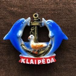 Magnetukas Klaipėda Delfinai su inkaru