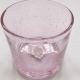 Stiklo žvakidė rožinė