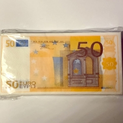 Servetėlės Pinigai 50€