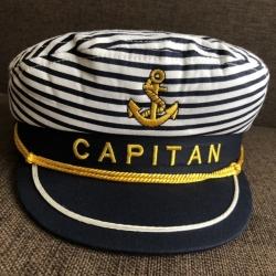 Kapitono kepurė Dryžuota